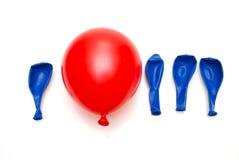 Eindeutiges Konzept des roten Ballons Lizenzfreies Stockfoto