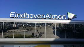 Eindhoven airport roof. With its name Royalty Free Stock Image