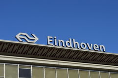 Eindhoven central station sign Royalty Free Stock Images