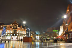 Eindhoven city square at night Stock Photography
