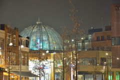 Eindhoven city square at night Royalty Free Stock Images