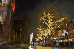 Eindhoven city square at night Royalty Free Stock Photo