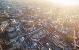 Eindhoven Cityscape, Netherlands. Sunset light royalty free stock photography
