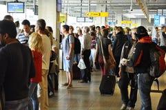 Eindhoven-Flughafen-Passagier-Aufenthaltsraum Lizenzfreie Stockbilder
