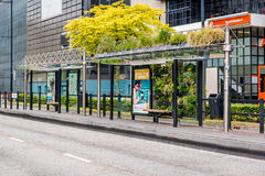 Eindhoven green bus stop Royalty Free Stock Image