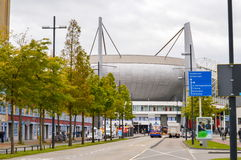 Eindhoven Nederländerna - 15 09 2015: Sikt på Philips Sta royaltyfri bild