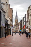 Eindhoven, the Netherlands - 15.09.2015: City center walking are royalty free stock images