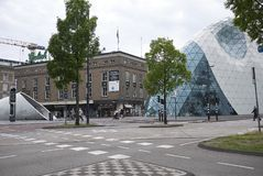 Modern building in Eindhoven stock images