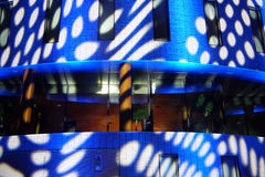 EINDHOVEN  office building during Glow 2011 Stock Image