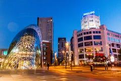 EINDHOVEN, PAÍSES BAIXOS - 29 DE AGOSTO DE 2016: Arquitetura moderna e construção de Philips em Eindhove imagem de stock