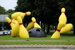 EINDHOVEN, PAESI BASSI - 5 GIUGNO 2018: Il volo appunta il monumento nella città di Eindhoven, Paesi Bassi immagine stock libera da diritti