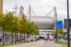 Eindhoven, Paesi Bassi - 15 09 2015: Vista a Philips Sta immagine stock libera da diritti