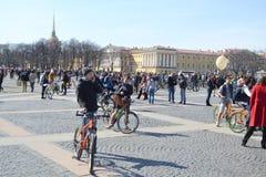 Eindig cirkelend op Paleisvierkant van St. Petersburg stock foto