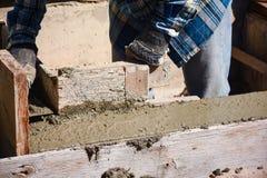 Eindigende Concrete Muur royalty-vrije stock foto