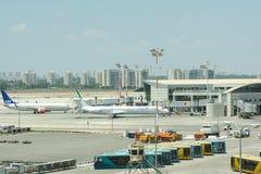 Eindnummer 3 van internationale luchthaven ben-Gurion in tel.-Avi Stock Fotografie