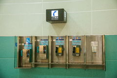 Eindpayphone van de Taoyuan Internationale Luchthaven Stock Foto's