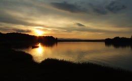 Eindrücke - der Sonnenuntergang Stockfoto