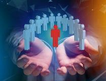 Eindringling in einer Gruppe Netzleuten - Geschäft und Kontakt legen herein stockbilder