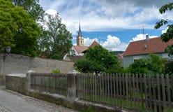 Eindruck des deutschen Dorfs iphofen Stockfotos