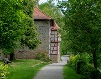 Eindruck des deutschen Dorfs iphofen Stockfoto