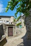 Eindruck des Dorfs Vogue in der Ardeche-Region von Frankreich stockfotografie