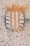 Eindruck des Gummireifens Lizenzfreies Stockbild