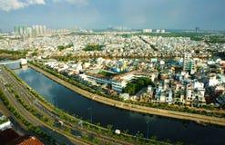 Eindruck panaromic von Asien-Stadt am Tag stockfoto
