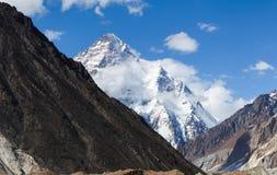 Eindrucksvolle Ansicht des Berges K2 stockfotos