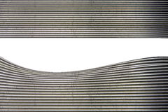 Eindrucksvolle gebogene Metalloberfläche Stockfotografie