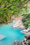 eindrucksvolles natürliches Türkiswasser Stockfotografie