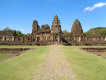 Eindrucksvolles Prasat Hin Phimai, der alte Khmertempelkomplex in Nakhon Ratchasima Stockbild