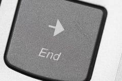 Eindsleutel op toetsenbordmacro Stock Afbeelding