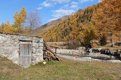 Eine Änderung am Objektprogramm des Herbstes im Frettchen-Tal Lizenzfreies Stockfoto