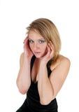 Eine ängstlich junge Frau Stockfotografie