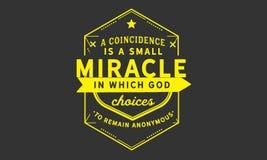 Eine Übereinstimmung ist ein kleines Wunder, in dem Gott beschließt, anonym zu bleiben lizenzfreie abbildung