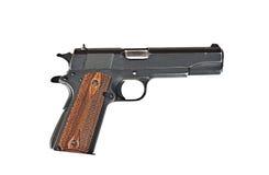Eine 45 Millimeter-Pistole Lizenzfreies Stockbild