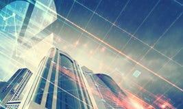 Eine Abbildung auf einem Thema der Architektur Lizenzfreie Stockfotos