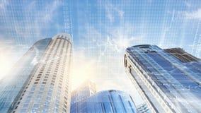 Eine Abbildung auf einem Thema der Architektur Lizenzfreies Stockbild