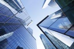 Eine Abbildung auf einem Thema der Architektur office Gebäude Moskau-Wolkenkratzer Stockbilder