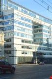 Eine Abbildung auf einem Thema der Architektur Stadt-Angelegenheiten Lizenzfreies Stockfoto