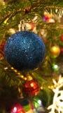Eine Abbildung einer blauen Blumenverzierung mit Schatten Lizenzfreies Stockbild