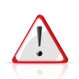 Eine Abbildung mit einem Warnzeichen lizenzfreie abbildung