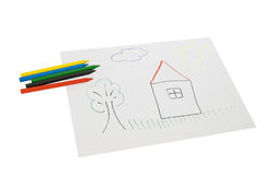 Eine Abbildung mit Zeichenstiften Lizenzfreie Stockbilder