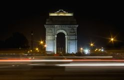 Eine Abendansicht von INDIEN-TOR Stockbild