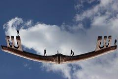 Eine abstrakte Reise - Versichertfamilie Stockbilder