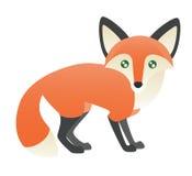 Eine abstrakte roter Fox-Stellung Lizenzfreies Stockfoto