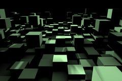 Eine abstrakte Würfelauslegung - ein Bild 3d Stockfotos