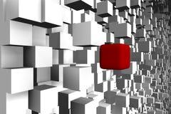 Eine abstrakte Würfelauslegung - ein Bild 3d Stockbild