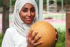 Eine afrikanische moslemische Frau Lizenzfreie Stockfotos