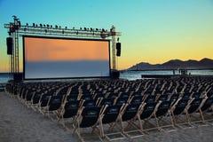 Eine allgemeine Ansicht der Atmosphäre an während des Cannes-Film-Festivals Lizenzfreie Stockfotografie